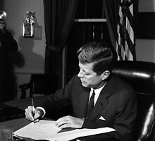 JFK Signing The Cuba Quarantine by warishellstore
