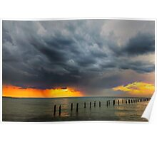 Storm clouds over Corio Bay  Poster