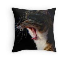 Tortishell Yawn Throw Pillow
