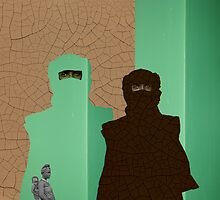 Sandmen and Mediterranea - Ziad Zitoun - 40x30cm - 2010 by Ziad Helmi Zitoun