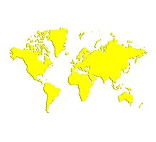 World With No Borders - true yellow Photographic Print