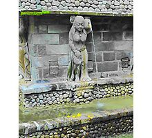 Balinese Fountain Statue Photographic Print