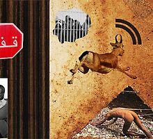 Refugees Emergency - Ziad Zitoun - 40x30cm - 2010  by Ziad Helmi Zitoun