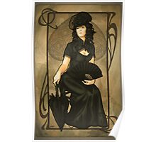 Poker Art Nouveau: 'Queen of Spades' Poster