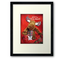 Merry Chris Moose Framed Print