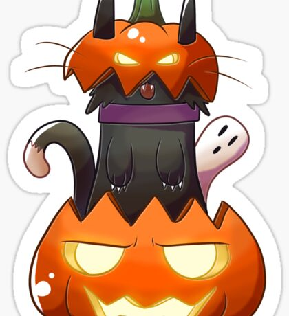 Jack O' Lantern Cat Sticker