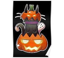 Jack O' Lantern Cat Poster
