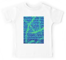 Abstract Blue Kids Tee