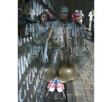 Vietnam Memorial - Names & Faces Photographic Print