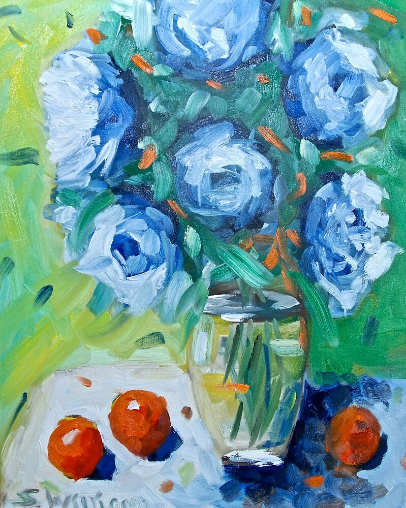 Blue Flowers by Sonny  Williams
