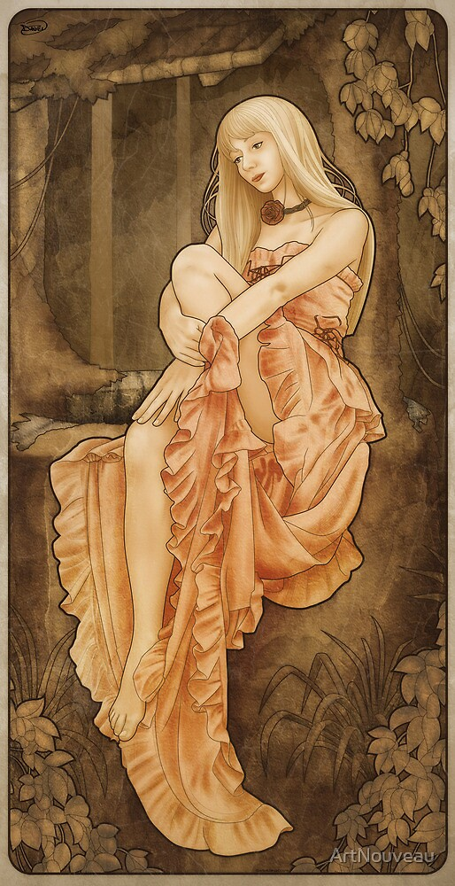 Art Nouveau: 'The Wish' by ArtNouveau