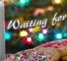 Waiting for Santa Sticker