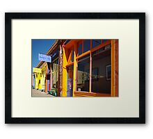 Down on Yankee Street - Silver City, NM Framed Print