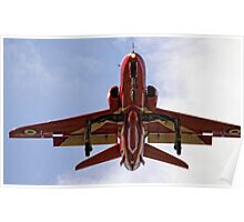 Red Arrow coming into land - RAF Scampton Poster
