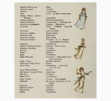 Language of Flowers Kate Greenaway 1884 0012 Descriptions of Specific Flower Significations Kids Tee