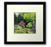 PINK WITHIN A GREEN SEA Framed Print