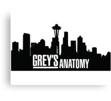Grey's Anatomy Canvas Print