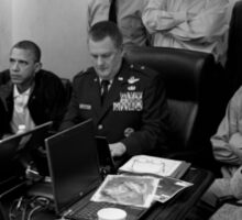 Obama In White House Situation Room Sticker
