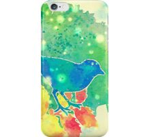 The Blue Bird of Happiness iPhone Case/Skin