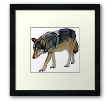 Crystalline Timber Wolf Framed Print