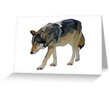 Crystalline Timber Wolf Greeting Card