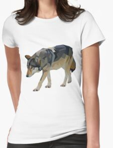 Crystalline Timber Wolf Womens Fitted T-Shirt