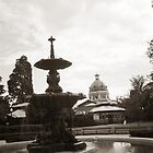 Fountain and courthouse by Ian Tester
