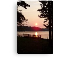 Surreal Lake Sunset Canvas Print