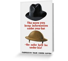 Careless Talk Costs Lives -- WW2 Greeting Card