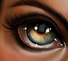 Hazel Eye Pop Surrealism Illustration by Kristin Frenzel
