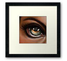Hazel Eye Pop Surrealism Illustration Framed Print