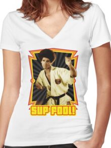 Jim Kelly Women's Fitted V-Neck T-Shirt