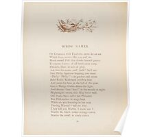 Rhymes for the Young Folk William and Hellen Allingham art Kate Greenaway 0058 Birds Names Poster