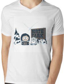North Park Mens V-Neck T-Shirt