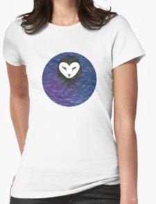 Iridescent Owl Spirit Womens Fitted T-Shirt