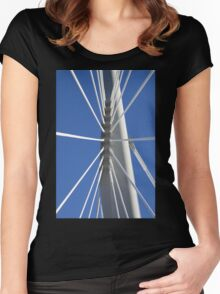 Abstract Bridge Lines #2, Winnipeg, Manitoba, Canada Women's Fitted Scoop T-Shirt