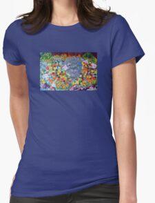 Nasturtium garden . Womens Fitted T-Shirt