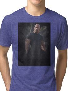 Fast Five Hobbs Dwayne Johnson Tri-blend T-Shirt