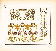 Maurice Verneuil Georges Auriol Alphonse Mucha Art Deco Nouveau Patterns Combinaisons Ornementalis 0027 by wetdryvac
