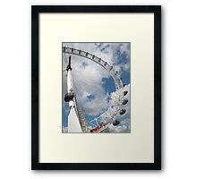 Eye'm almost at the front of the queue. Framed Print