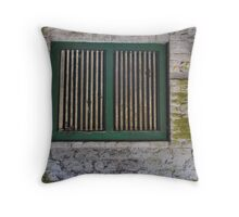 Window from the Butchers shop. Throw Pillow
