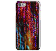 Colorful Christmas Streaks - Abstract Christmas Lights Series iPhone Case/Skin