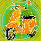 go green; vespa, concentric circles, eco-friendly by kieran  mcgonnell