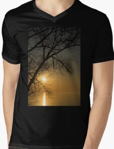 The Rising Sun and the Tree Mens V-Neck T-Shirt