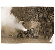 Southern artillary sepia Poster
