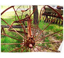 Old Farm Equipment I Poster