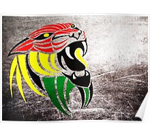 Lion Reggae Colors Cool T Shirts Prints and Stickers Poster
