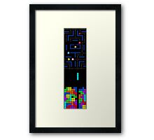 Retro Gaming Tetris Pac-Man Framed Print