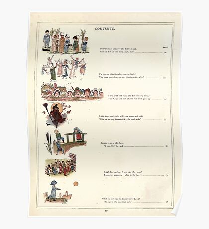 Under the Window Pictures and Rhymes for Children Edmund Evans and Kate Greenaway 1878 0014 Contents Poster