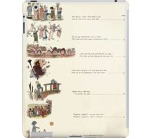 Under the Window Pictures and Rhymes for Children Edmund Evans and Kate Greenaway 1878 0014 Contents iPad Case/Skin